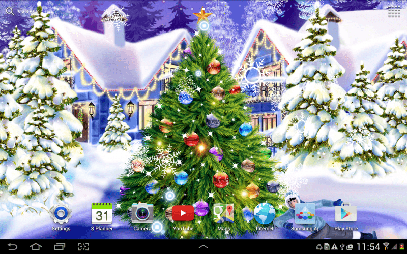 App Christmas rink live wallpaper
